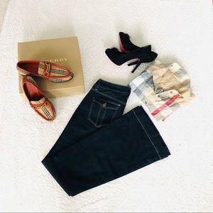 Burberry Windsor wide leg jeans